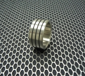 Designer Series Stainless Triple Accent Ring  1 1/2""