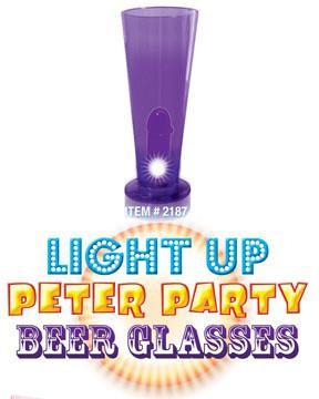 Light Up Peter Party Beer Glass Purple