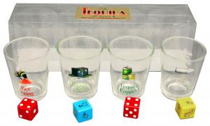 Tequila Lovers Shot Glass set and Game