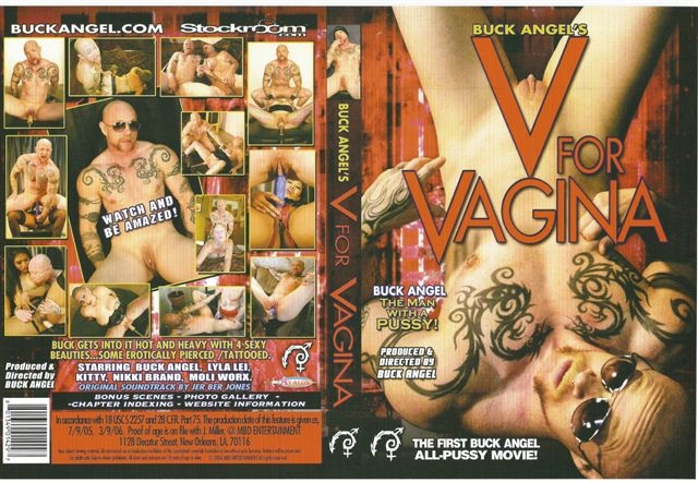 V For Vagina DVD Signed by Star Buck Angel