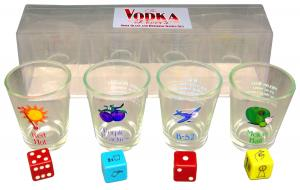 Vodka Lovers Shot Glass set and Drinking Game